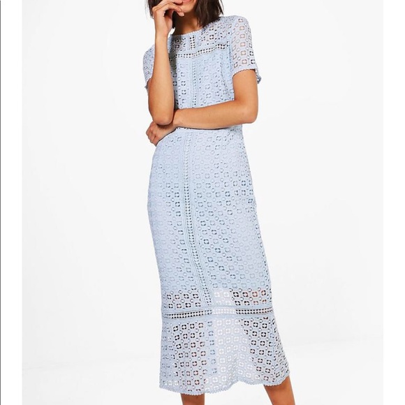 Boohoo Crochet Midi Dress b87ea9890
